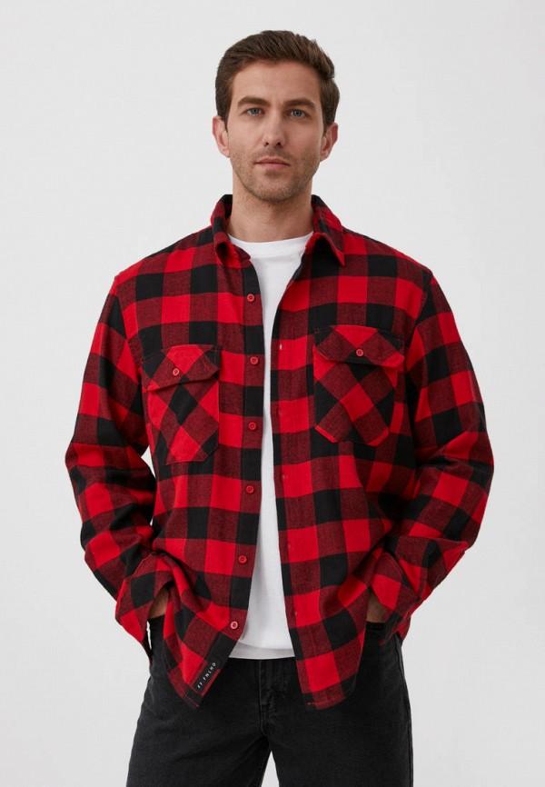 Рубашка Finn Flare красного цвета