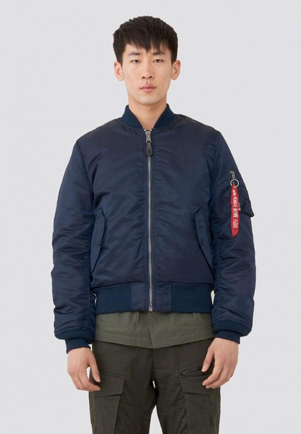 мужская куртка alpha industries, синяя
