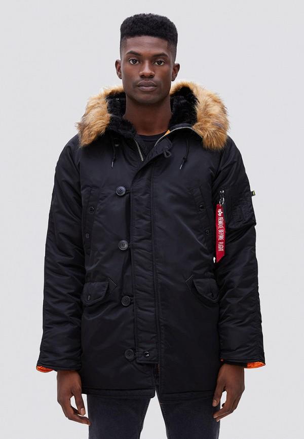 мужская куртка alpha industries, черная