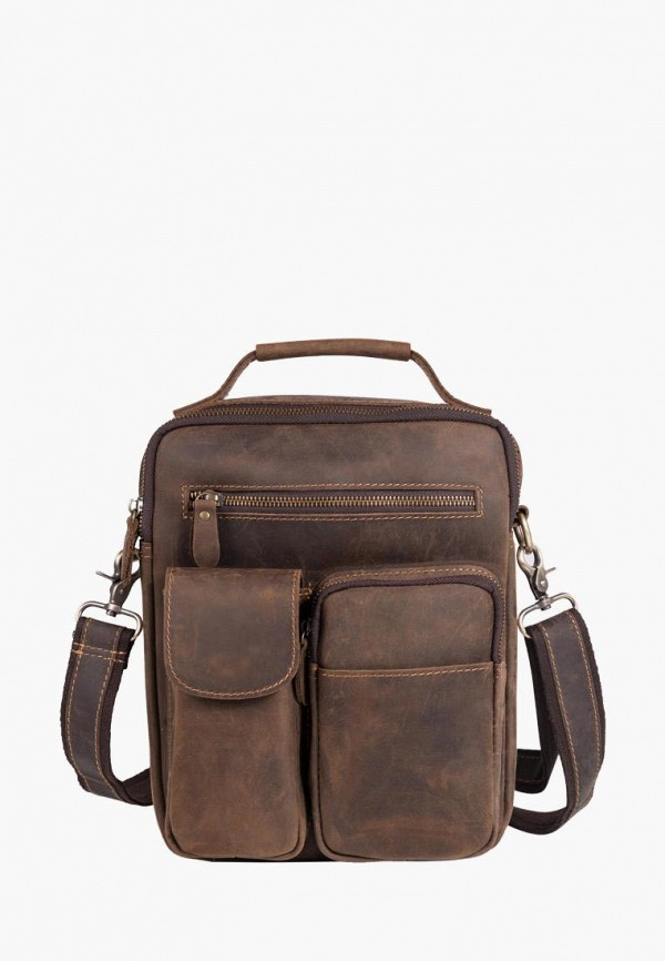 мужская сумка royalbag, коричневая