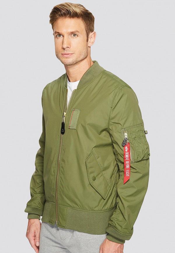 мужская куртка alpha industries, зеленая