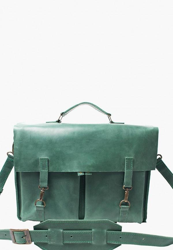 мужской портфель incarne, зеленый