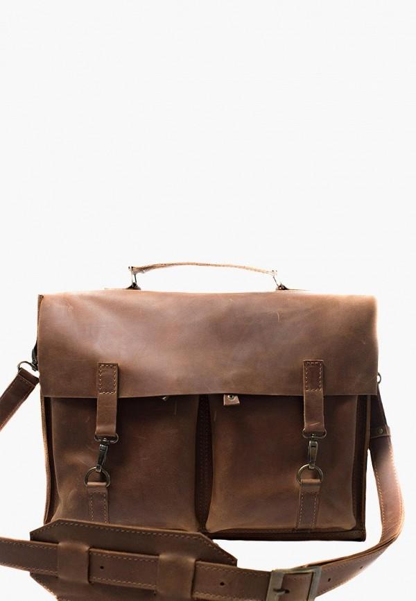 мужской портфель incarne, коричневый