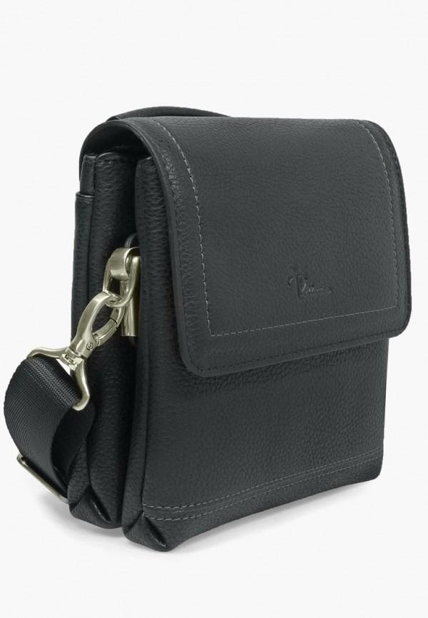 Фото 2 - Мужскую сумку Pellecon черного цвета