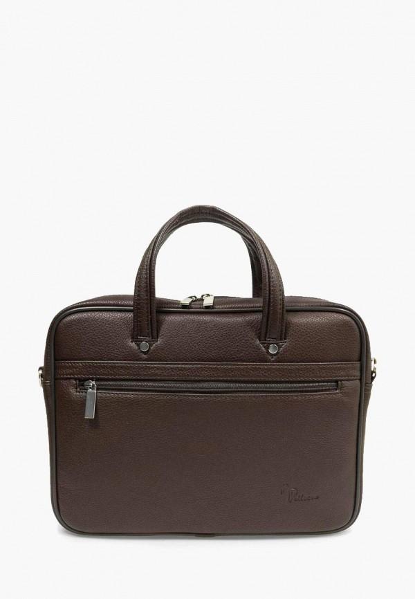 мужская сумка через плечо pellecon, коричневая