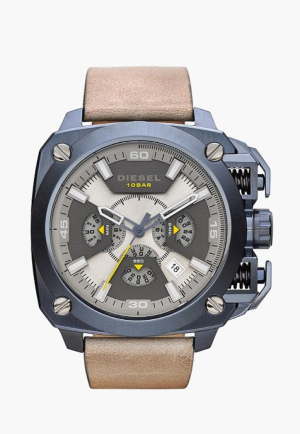 мужские часы diesel, бежевые