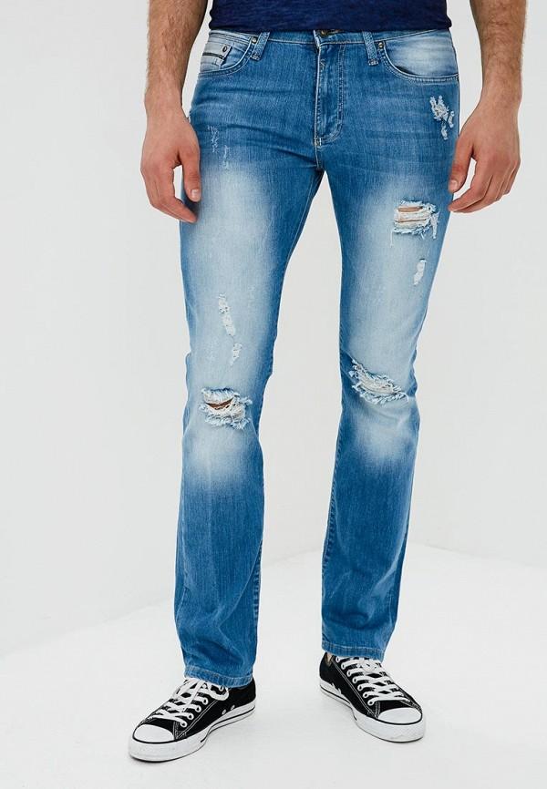 мужские зауженные джинсы mosko jeans, голубые
