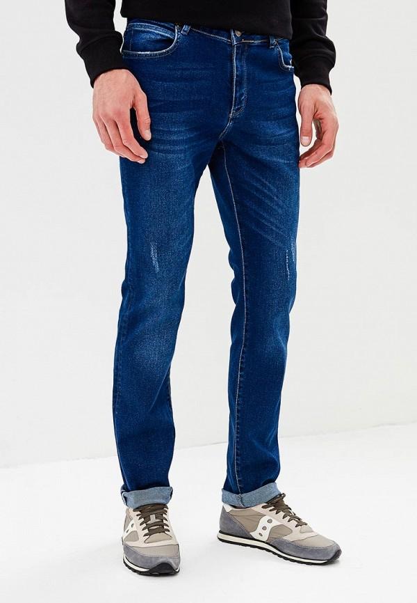 мужские зауженные джинсы mosko jeans, синие