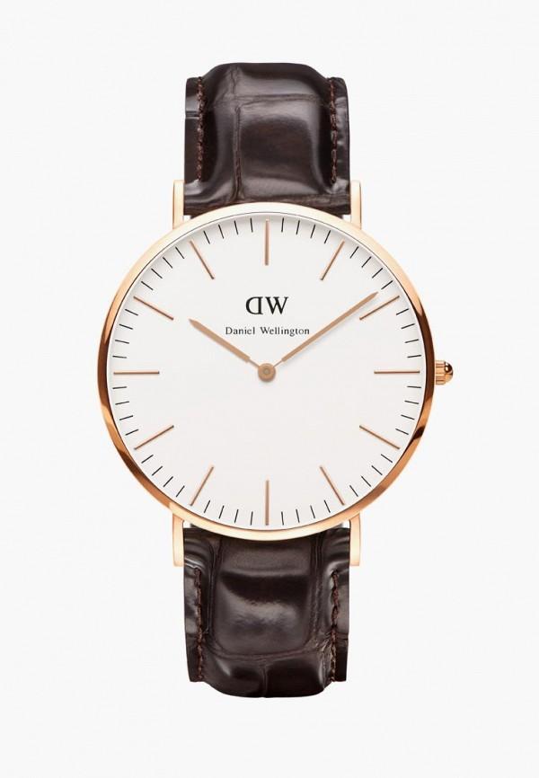 мужские часы daniel wellington, коричневые