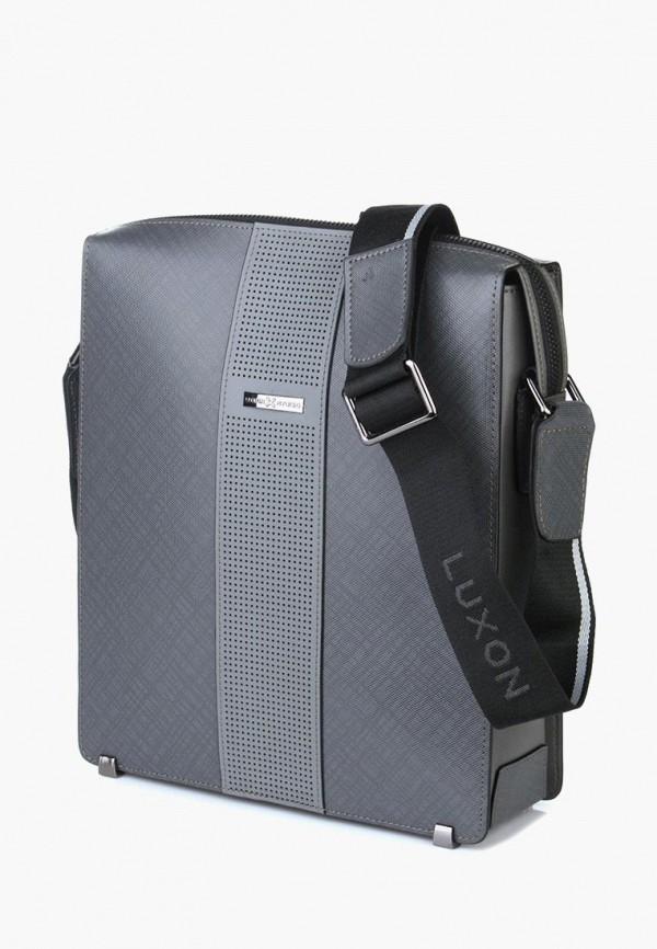 мужская сумка luxon, серая
