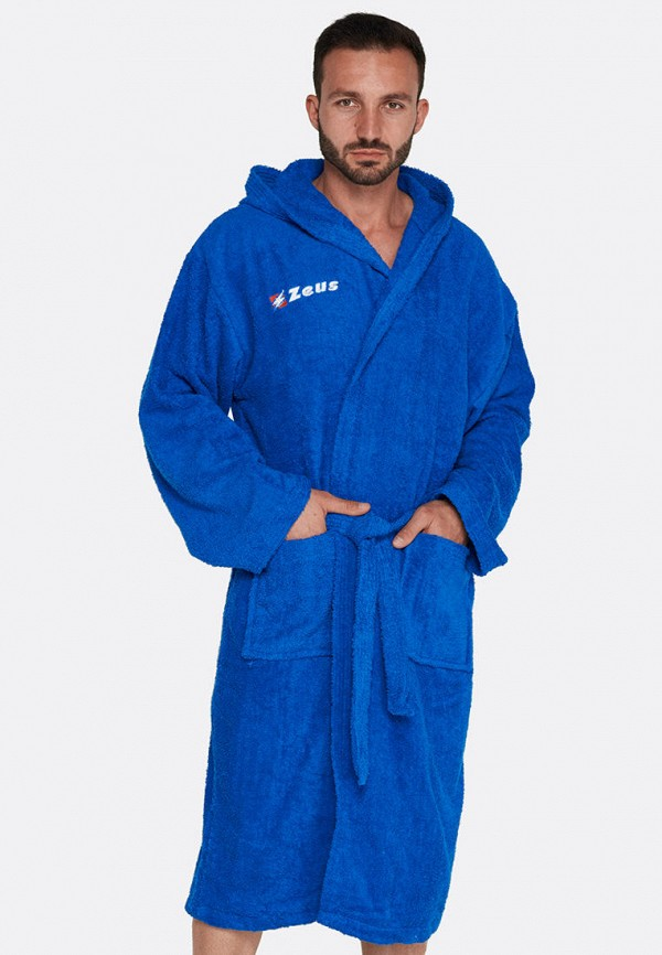 мужской халат zeus, синий