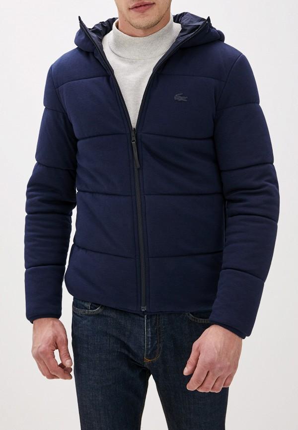 мужская утепленные куртка lacoste, синяя