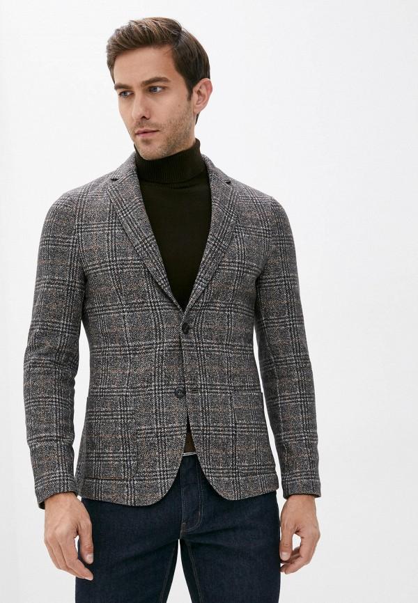 мужской пиджак falconeri, серый