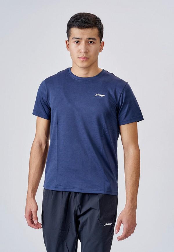мужская спортивные футболка li-ning, синяя