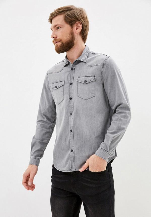 мужская рубашка с длинным рукавом defacto, серая