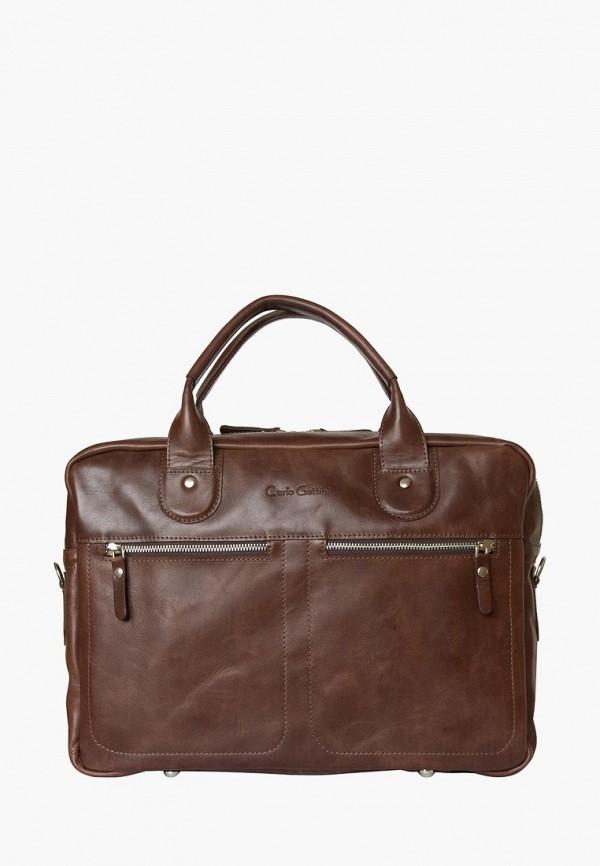 мужская сумка carlo gattini, коричневая