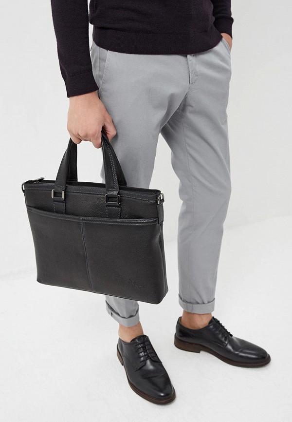 Фото 4 - Мужскую сумку Pellecon черного цвета
