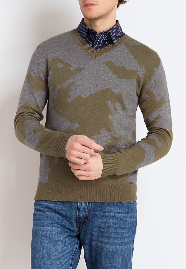 мужской пуловер finn flare, разноцветный