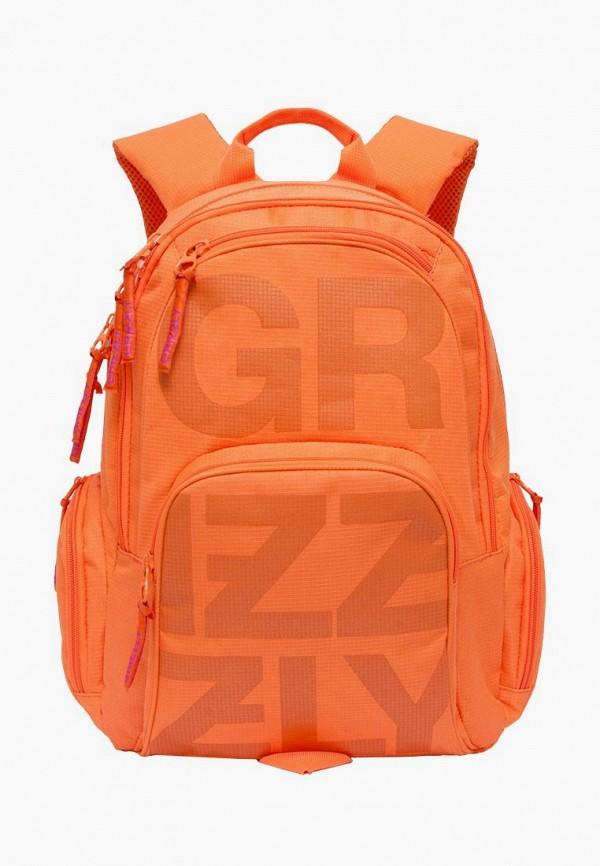 мужской рюкзак grizzly, оранжевый