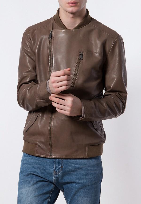 Купить Куртка кожаная Finn Flare, mp002xm0yfi2, коричневый, Весна-лето 2018