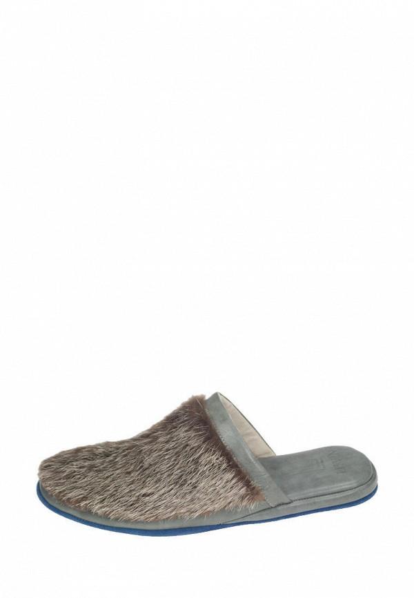 мужские тапочки litvin, серые