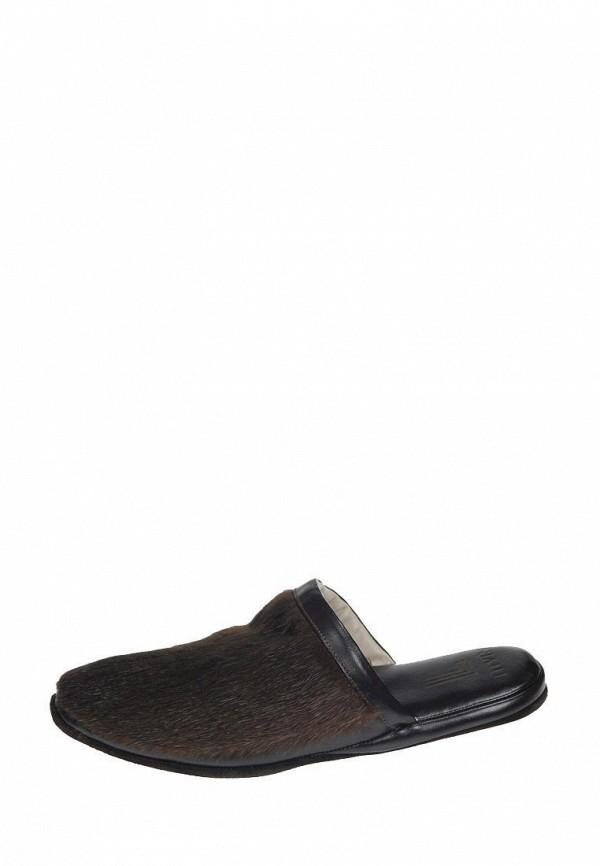 мужские тапочки litvin, коричневые