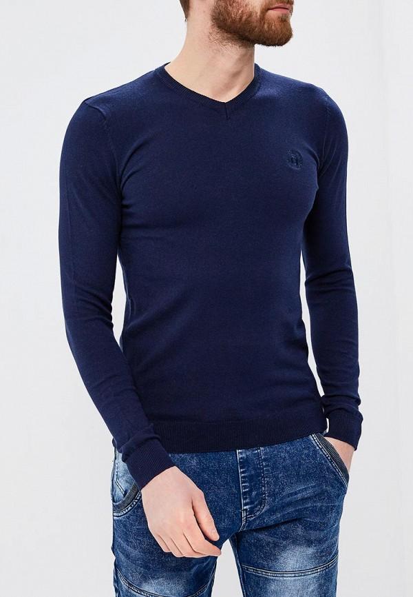 мужской пуловер ombre, синий