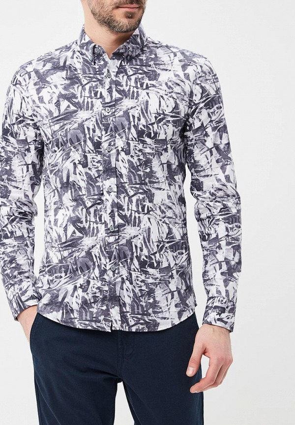 мужская рубашка с длинным рукавом colin's, серая