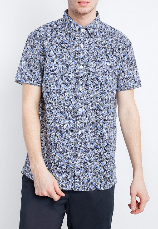 мужская рубашка с коротким рукавом finn flare, голубая