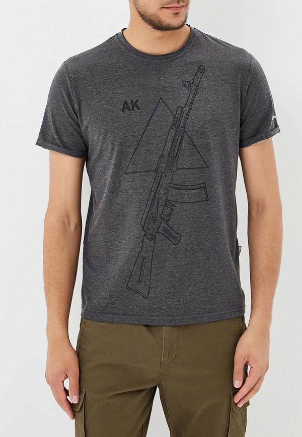 Фото - Мужскую футболку Концерн Калашников серого цвета
