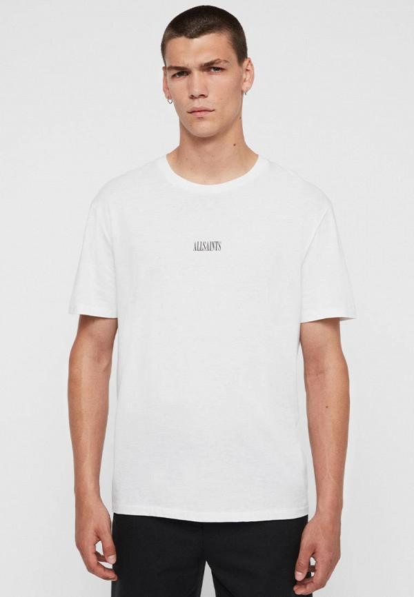 мужская футболка с коротким рукавом allsaints, белая