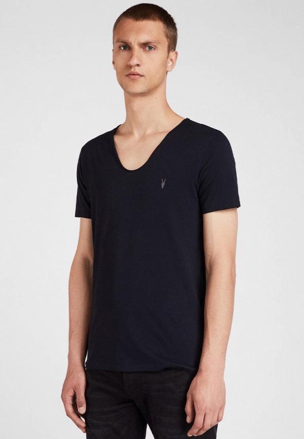 мужская футболка с коротким рукавом allsaints, синяя