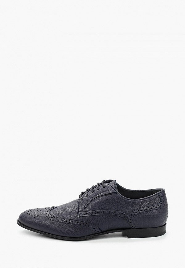мужские туфли-дерби dino bigioni, синие