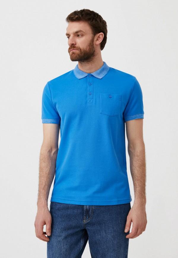 Поло Finn Flare голубого цвета