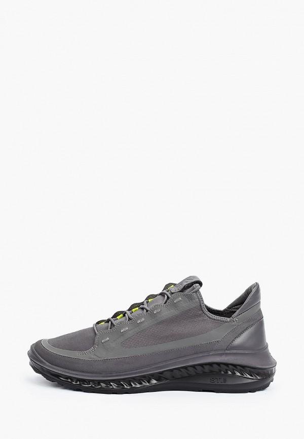 мужские низкие кроссовки ecco, серые