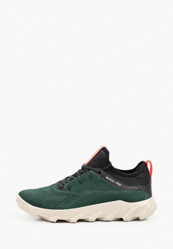 мужские низкие кроссовки ecco, зеленые