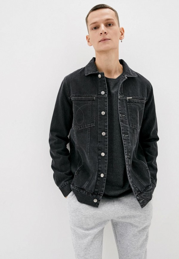 мужская джинсовые куртка dasti, черная
