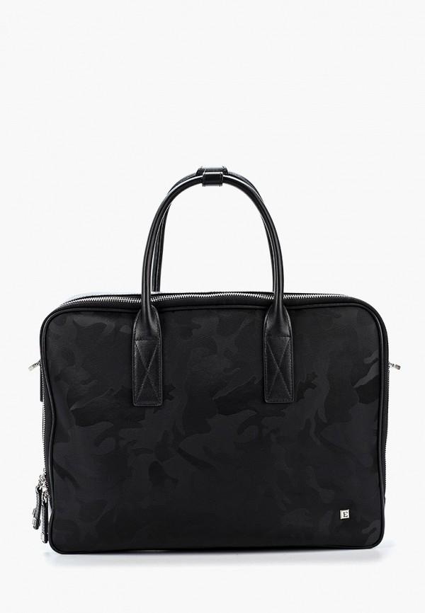 мужская сумка с ручками eleganzza, черная