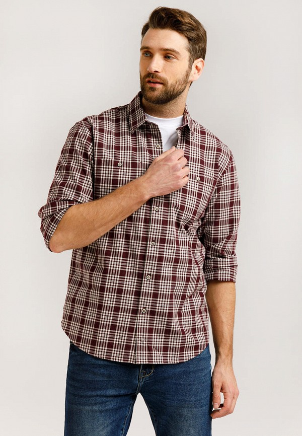 Рубашка Finn Flare бордового цвета
