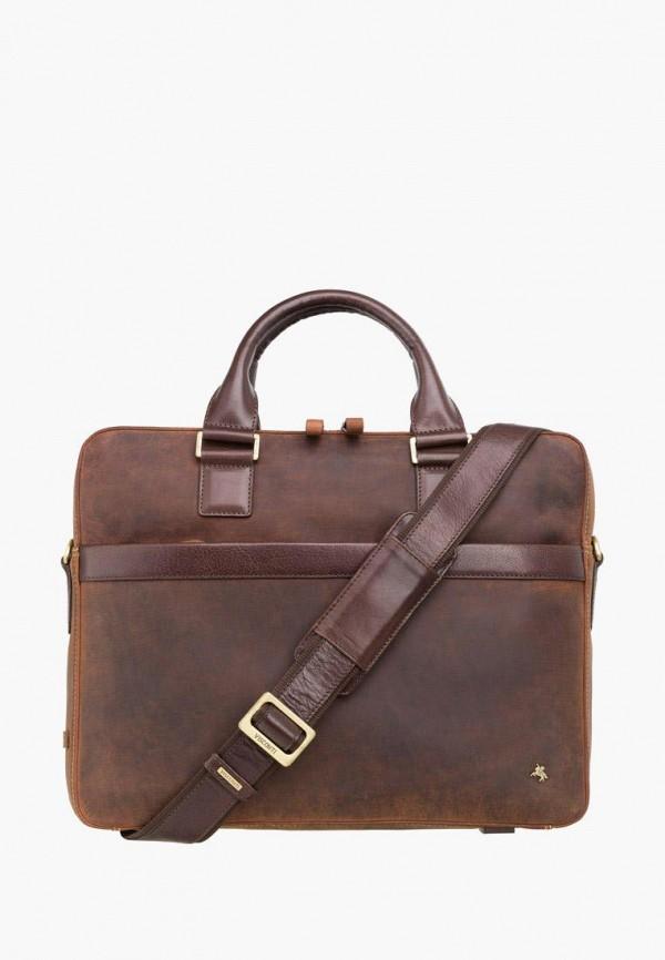 мужская сумка visconti, коричневая
