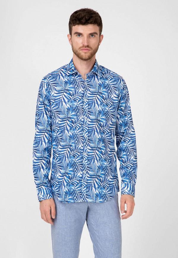 мужская рубашка с длинным рукавом pako lorente, синяя