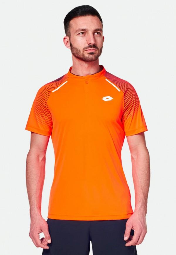мужская спортивные футболка lotto, оранжевая
