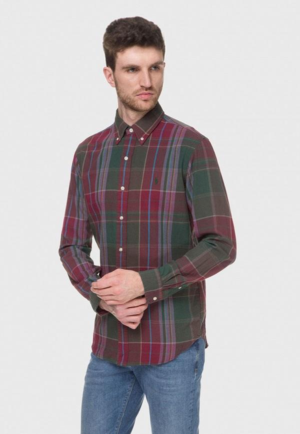 мужская рубашка с длинным рукавом polo ralph lauren, разноцветная