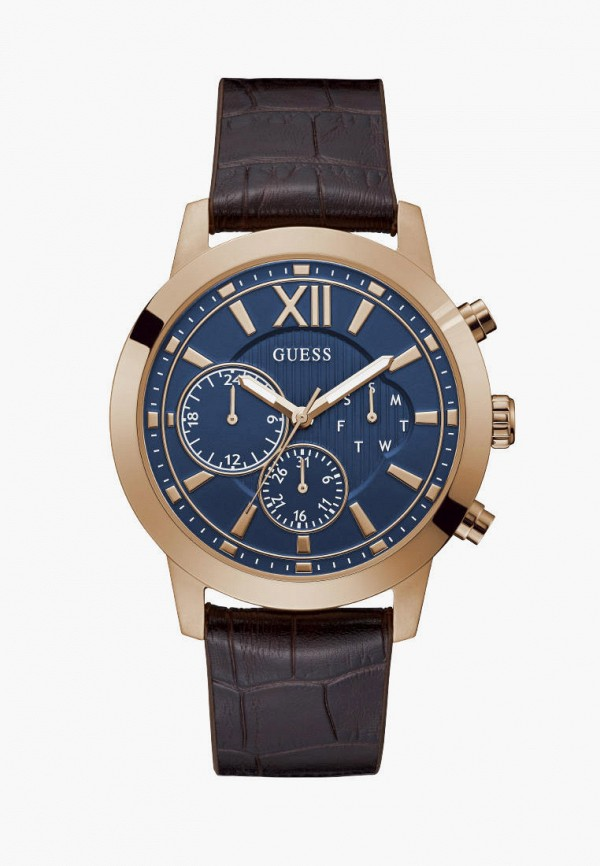 мужские часы guess, коричневые
