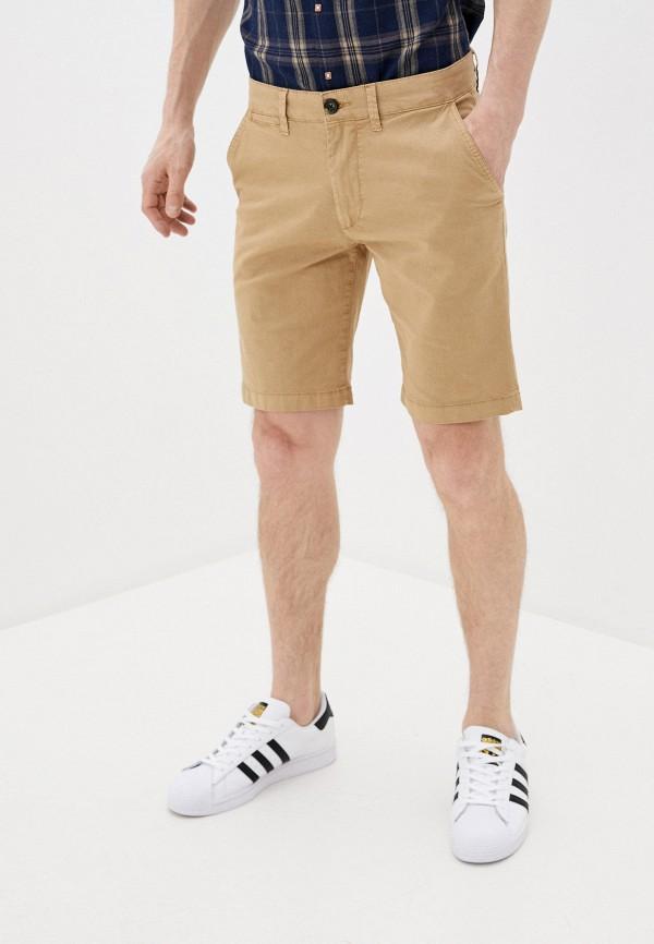 мужские повседневные шорты pepe jeans london, бежевые