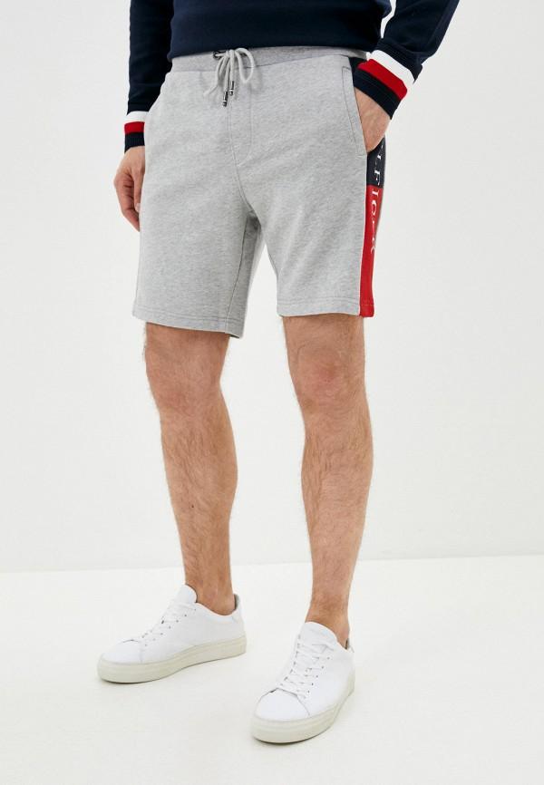 мужские повседневные шорты tommy hilfiger, серые