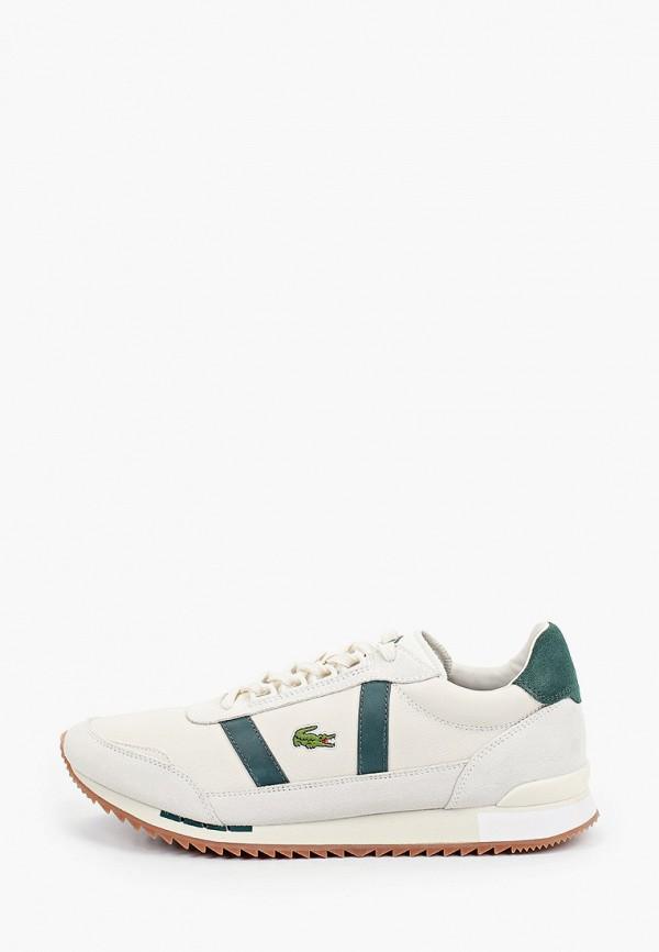 мужские низкие кроссовки lacoste, бежевые