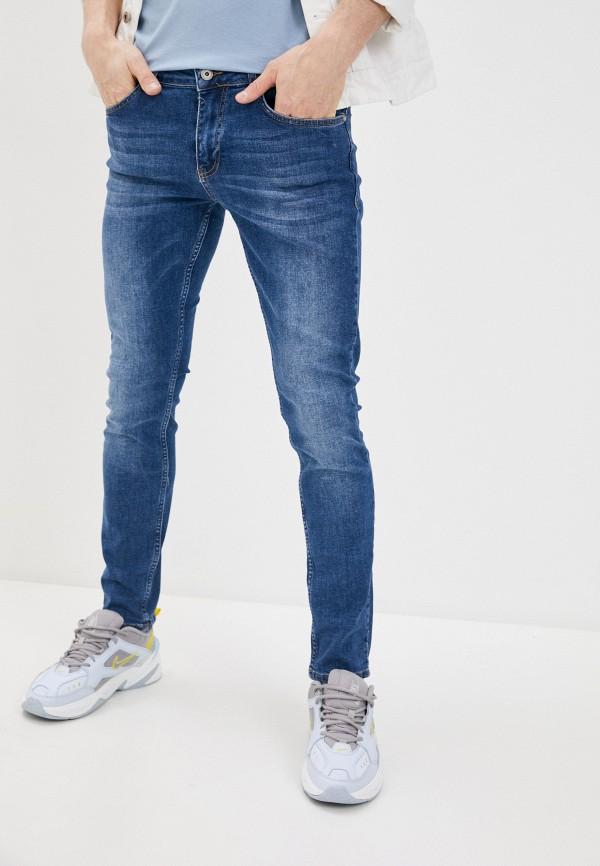 мужские зауженные джинсы defacto, синие