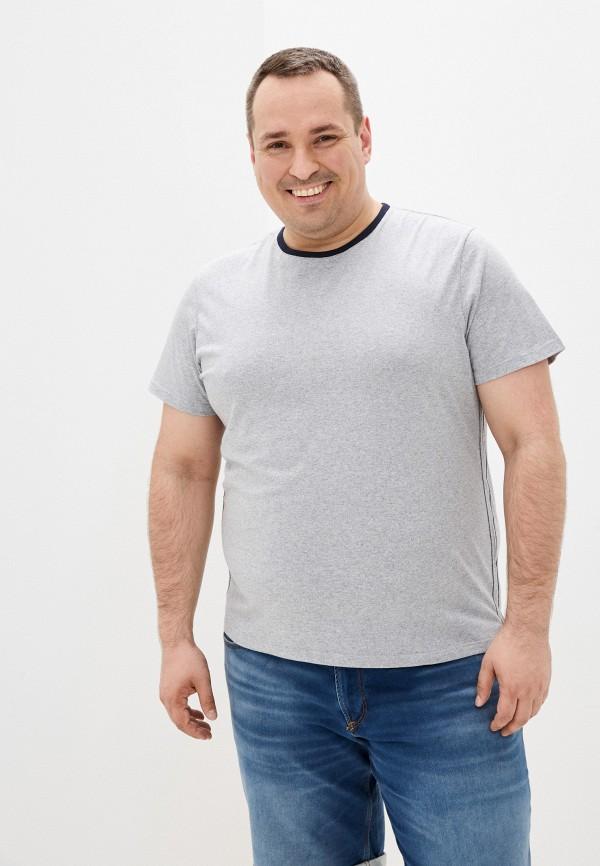 мужская футболка с коротким рукавом fine joyce, серая
