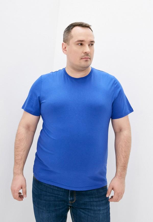 мужская футболка с коротким рукавом fine joyce, синяя